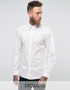 Рубашка с принтом крестов Noose and Monkey - Белый