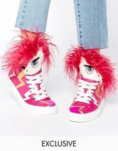 Высокие кроссовки с дизайном единорога Minna Parikka Aero - Мульти