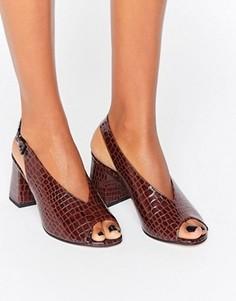 Босоножки на каблуке ASOS HOLLIE - Коричневый