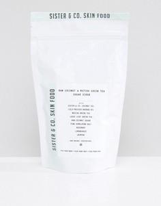 Сахарный скраб для тела Sister & Co Raw Coconut & Matcha Green Tea - 300 г - Бесцветный
