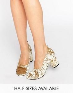 Бархатные туфли на каблуке ASOS SIMONE - Зеленый