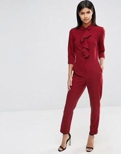 Комбинезон с рубашкой и рюшами ASOS - Красный