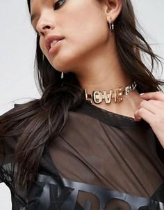 Короткое ожерелье ASOS L.O.V.E - Мульти