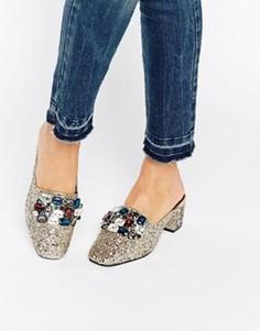 Декорированные туфли на каблуке ASOS SOMETHING GOOD - Мульти