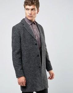 Темно-серое пальто из ткани букле Selected Homme - Рыжий