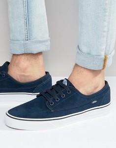 Синие замшевые кроссовки Vans Brigata VA2ZABI63 - Синий