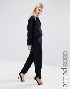 Свободные комбинируемые брюки с широкими штанинами ASOS PETITE - Темно-синий
