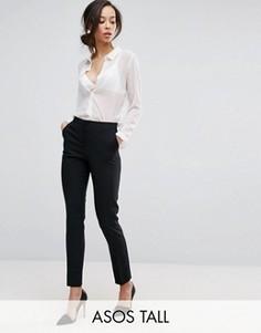 Укороченные брюки ASOS TALL - Черный