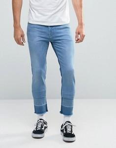 Укороченные джинсы скинни ASOS - Синий
