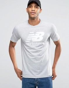 Серая футболка с логотипом New Balance Classic MT63554_AG - Серый