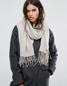 Трикотажный шарф с зигзагообразным узором ALDO - Серый