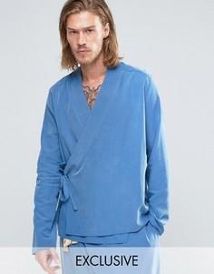 Рубашка классического кроя Reclaimed Vintage Karate - Синий