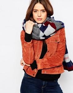Тканый oversize‑шарф в полоску с необработанными краями ASOS - Мульти
