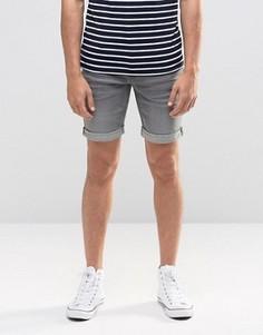 Серые джинсовые шорты слим Blend Twister - Серый