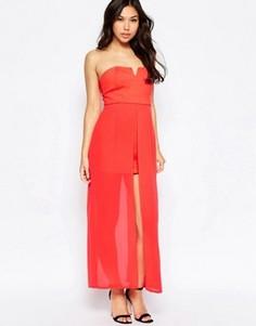 Платье с длинным верхним слоем Jovonna Nico - Красный