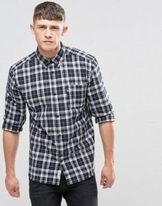 Рубашка в клетку на пуговицах с одним карманом Bellfield - Темно-синий