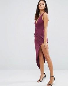 Асимметричное платье макси AX Paris - Фиолетовый