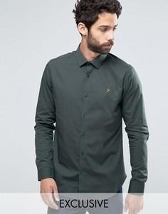 Классическая узкая рубашка стретч Farah - Зеленый