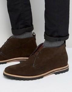 Замшевые ботинки на шнуровке Ted Baker Maagna - Коричневый