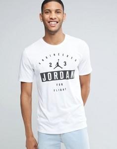 Белая футболка с принтом Nike Jordan 801556-100 - Белый