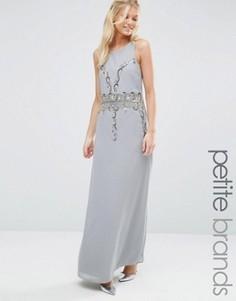 Платье макси с открытой спиной Maya Petite - Серый