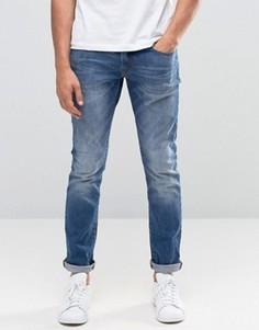 Винтажные зауженные джинсы Esprit - Синий