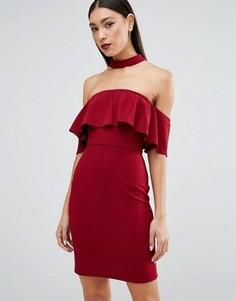 Платье с горловиной‑чокер Parisian - Красный