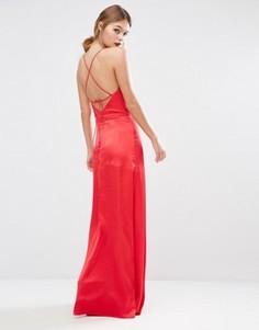 Платье со свободным воротом и лямками на спинке Jarlo - Красный
