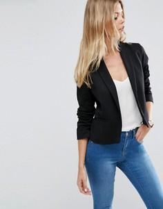 Пиджак из ткани понте с шалевым воротником ASOS - Черный