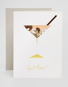 Поздравительная открытка на день рождения Meri Meri Cocktail Confetti - Мульти