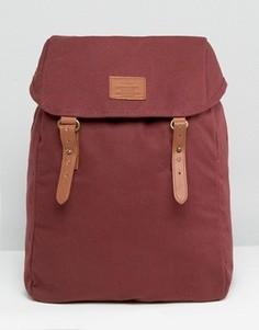 Парусиновый рюкзак с контрастными ремешками ASOS - Красный