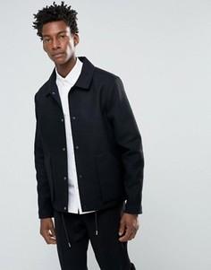 Шерстяная куртка с накладными карманами Bellfield - Черный
