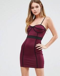 Облегающее платье с окантовкой AX Paris - Фиолетовый