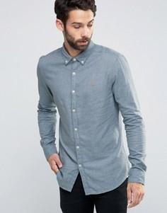 Фактурная рубашка слим Farah - Синий