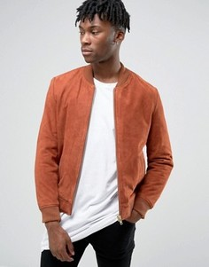Замшевая куртка‑пилот Black Dust - Красный
