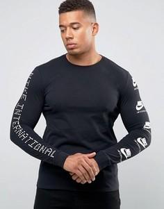 Футболка с принтом на рукавах Nike International 803981-010 - Черный