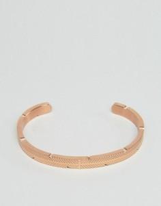 Золотисто-розовый браслет-манжета Mister - Золотой