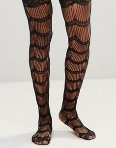 Носки с рельефной и кружевной отделкой Leg Avenue Stay Up - Черный