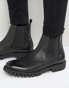Кожаные ботинки челси Selected Homme Varian - Черный