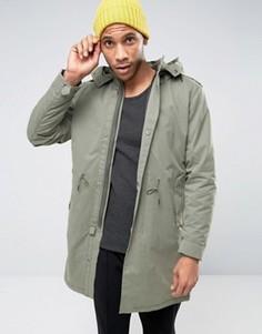 Парка со съемной курткой-пилот Selected Homme Premium - Серый
