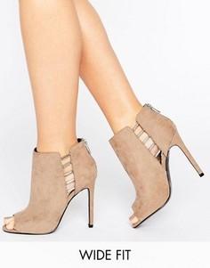 Туфли для широкой стопы на каблуке ASOS PAN - Серый