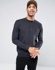 Свитшот с заниженной линией плеч Selected Homme - Черный