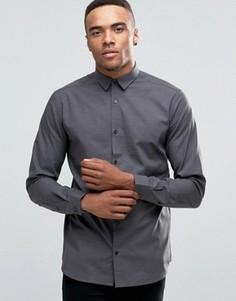Строгая рубашка слим с длинными рукавами Jack & Jones Premium - Серый