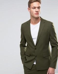 Зеленый узкий пиджак ASOS - Зеленый