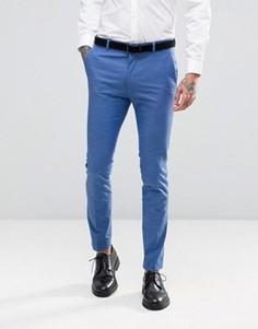 Синие брюки кроя слим ASOS - Синий