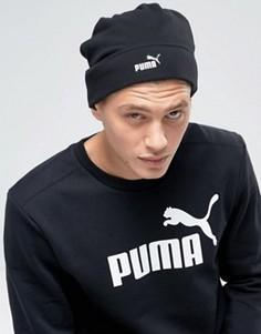 Черная флисовая шапка-бини Puma Snow 2106001 - Черный