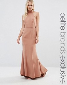 Платье макси с халтером Jarlo Petite - Бежевый