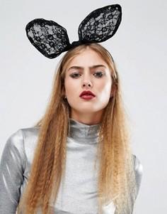 Ободок с кроличьими ушками Orelia Halloween - Черный