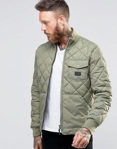 Зеленая стеганая куртка Lee Lichen - Зеленый
