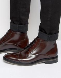 Кожаные ботинки на шнуровке Ted Baker Baise - Коричневый